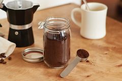 Metal Mason Jar Coffee Scoop Regular Mouth Stainless Steel