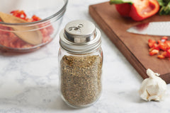 Metal Mason Jar Spice Lid Regular Mouth Stainless Steel