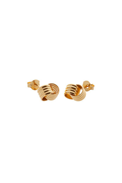 CUSP - DOUBLE KNOT STUDS IN SILVER, GOLD OR ROSE GOLD