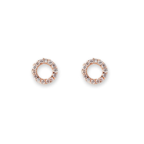 Rose gold circle earrings by Bianc