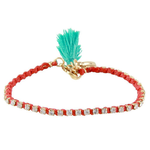 FIRST KISS BLISS BRACELET IN RED AND GOLD