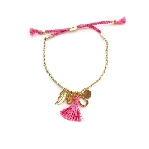 Pretty n' charming bracelet in bright pink