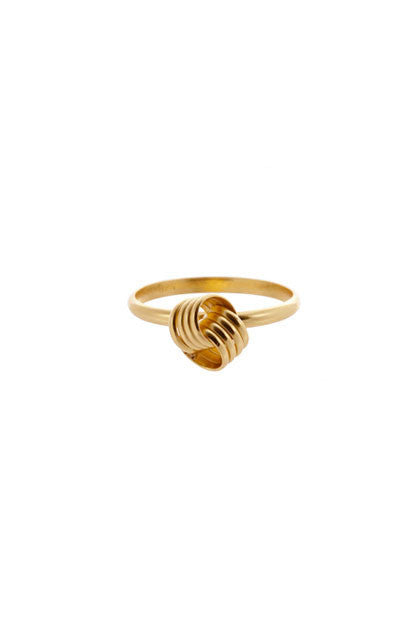 CUSP - DOUBLE KNOT RING IN SILVER, GOLD OR ROSE GOLD
