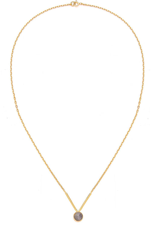 21ct Labra Small Stone V Necklace