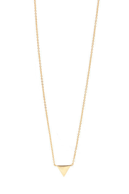 TESS TRIANGLE NECKLACE IN 14ct GOLD, ROSE GOLD OR RHODIUM