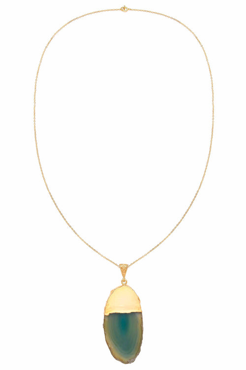 21ct Gold dipped agate necklace