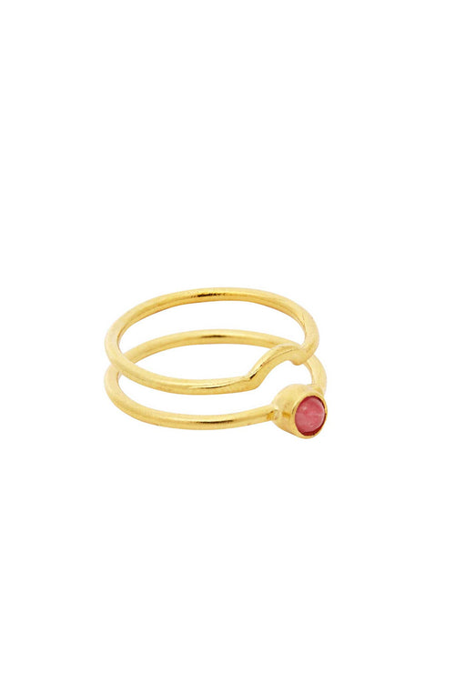 21ct Ruby Ring Stack