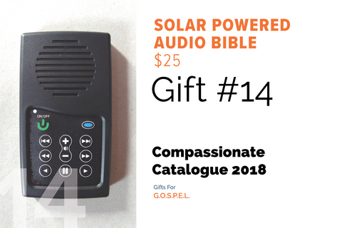 CC18 - #14 - Solar Powered Digital Audio Bible