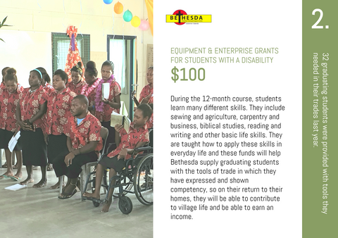 CC20 - #02 - Equipment & Enterprise Grants for Students with a Disability