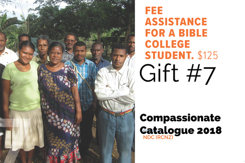 CC18 - #07 - Fee Assistance for a Bible College Student