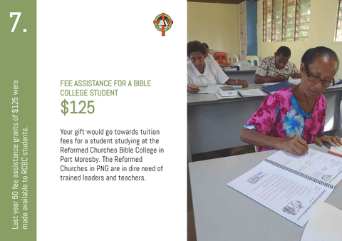 CC20 - #07 - Fee Assistance for a Bible College Student