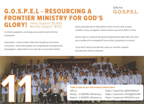 CC19 - #11 - GOSPEL Missionary Support