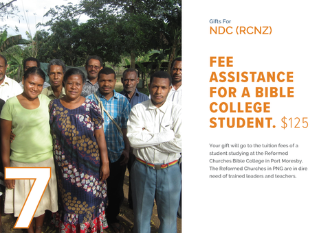 CC19 - #07 - Fee Assistance for a Bible College Student