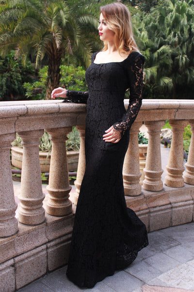 black-lace-maxi-dress-angelina-voloshina