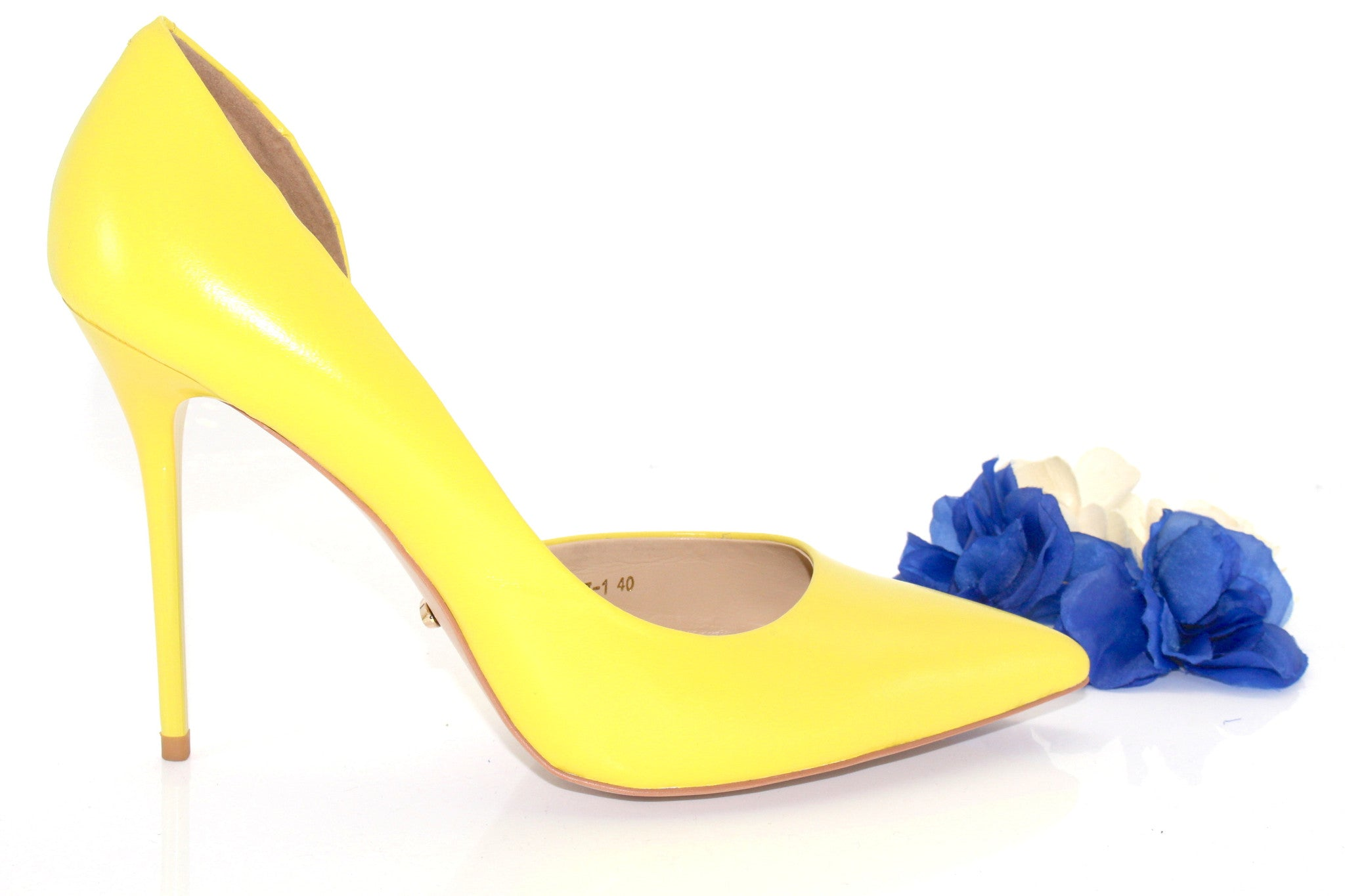 d4cef614b8 ... 1; Boutique Fashion - Yellow Pointed Toe Pumps - Angelina Voloshina - AV  Heels - 2 ...