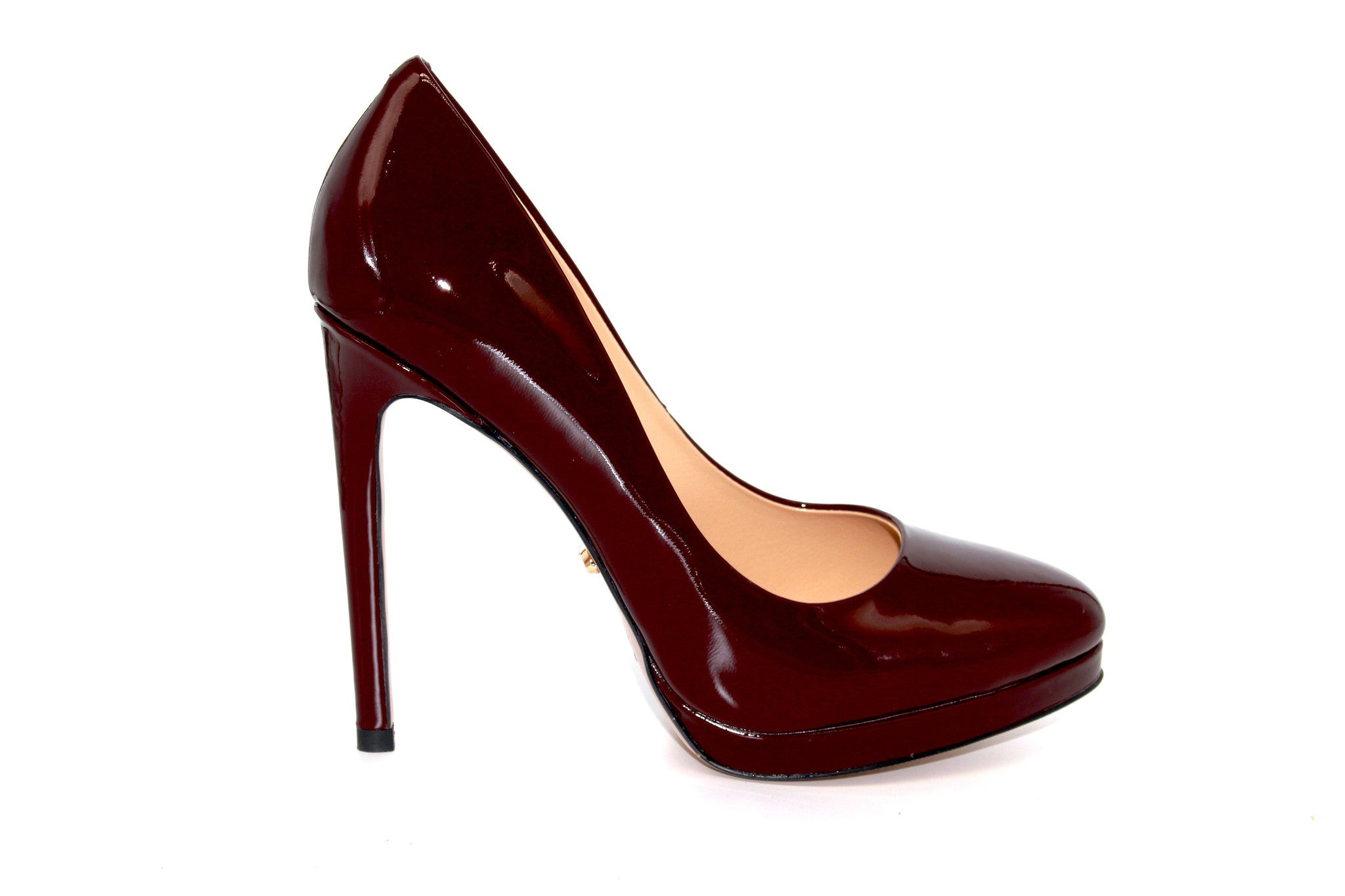 4.5 Inch Heels - Burgundy Patent Leather Pumps - Angelina Voloshina - AV  Heels - 1 ...