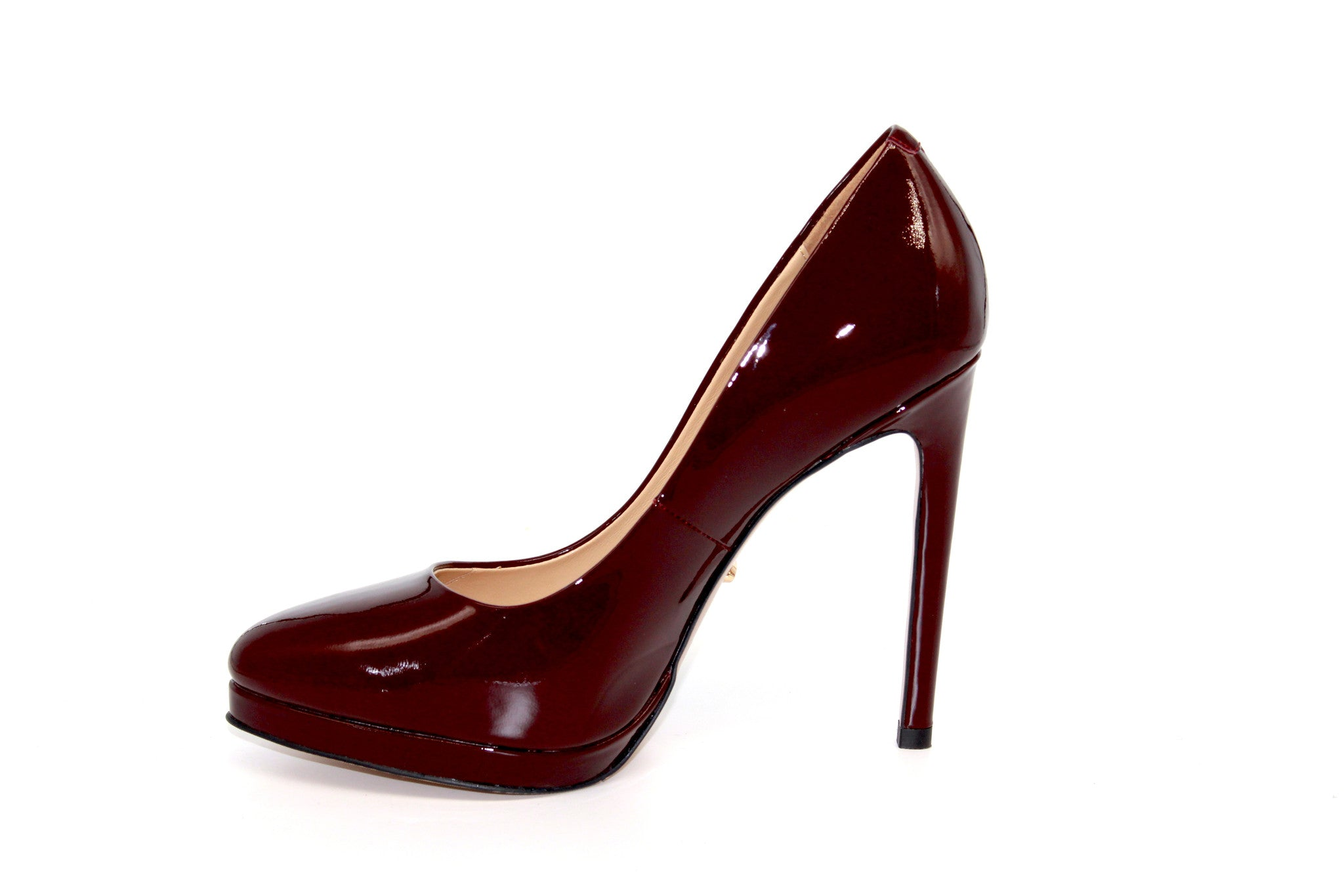 889057922f ... 4.5 Inch Heels - Burgundy Patent Leather Pumps - Angelina Voloshina - AV  Heels - 3