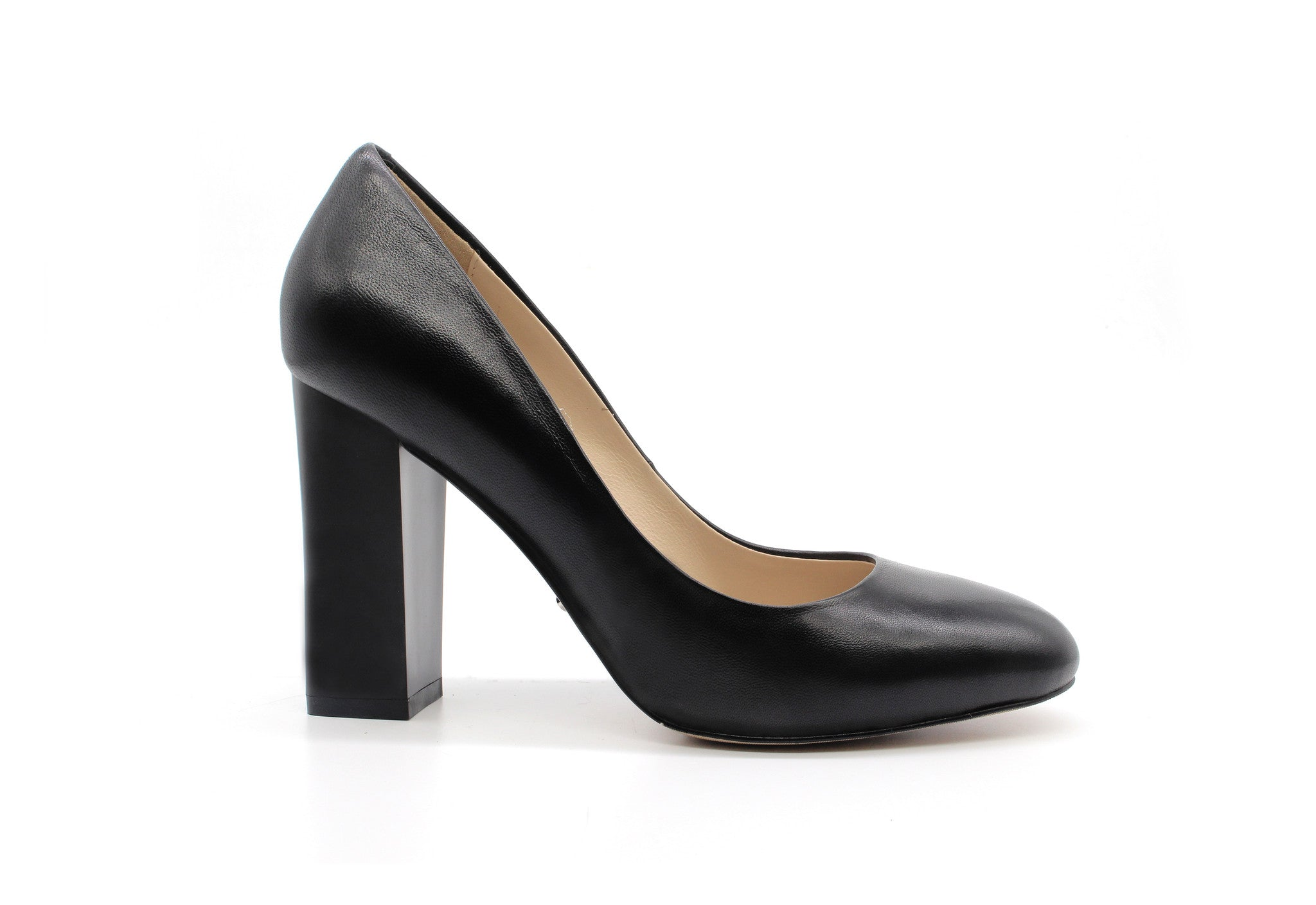 d94d505ee0 3 Inch Heels - Black Leather Block Heels - Angelina Voloshina - AV Heels - 1  ...