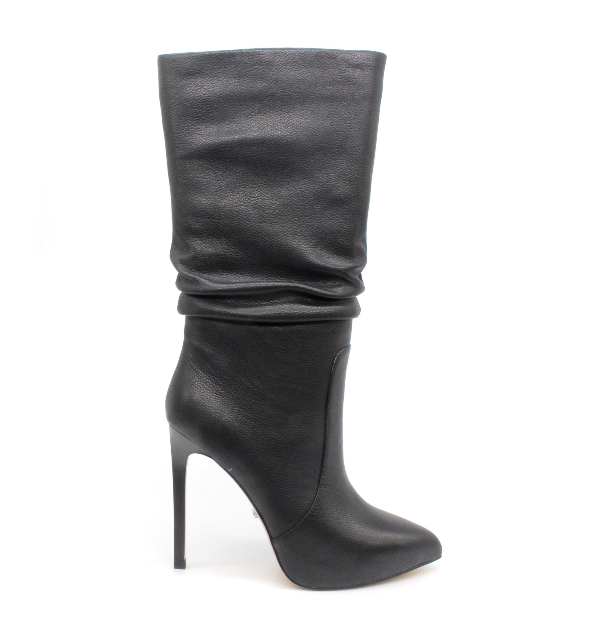 182d7450019 Black High Top Boots - 5 inch Leather Heels - Angelina Voloshina - AV Heels  ...