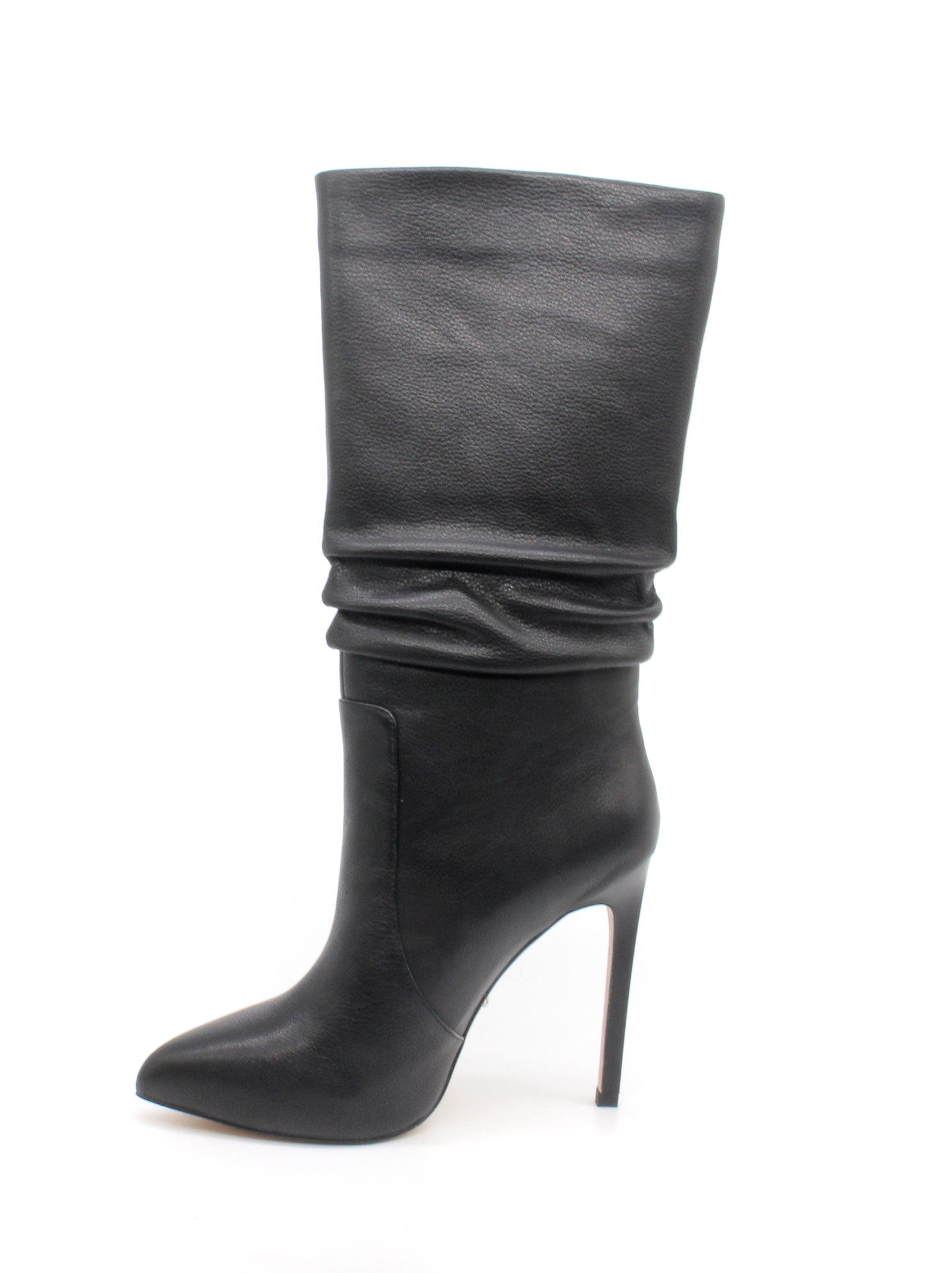 0b02fded7ac ... Black High Top Boots - 5 inch Leather Heels - Angelina Voloshina - AV  Heels -