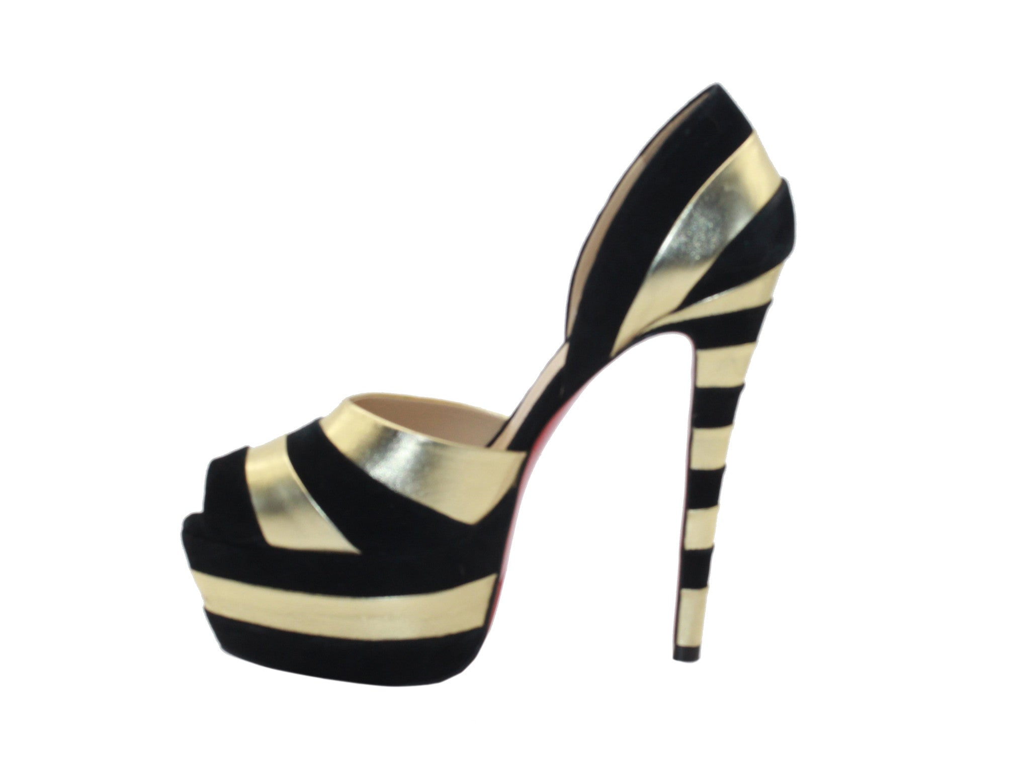 Heels Black And Gold