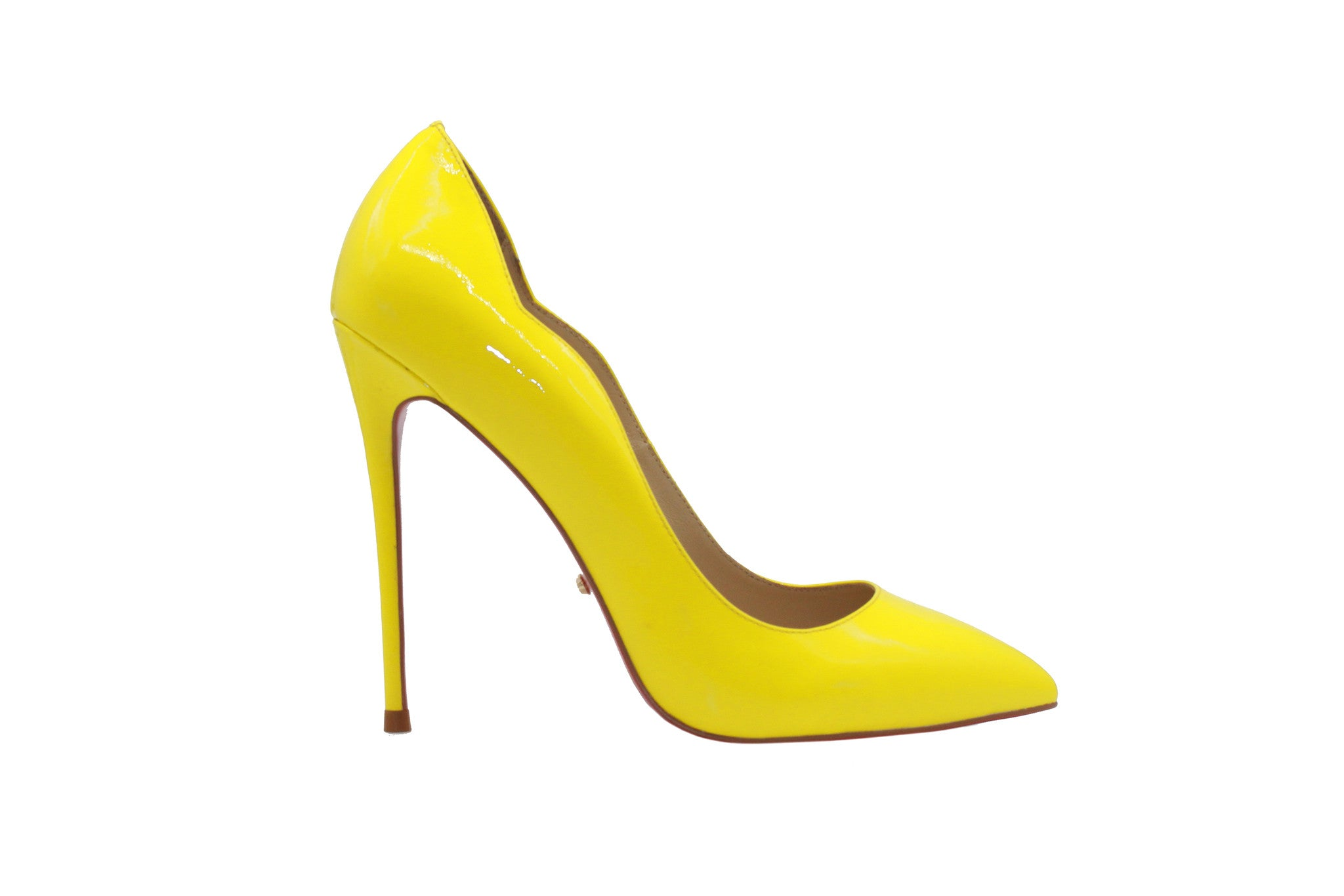 2b9a6b3f2a 5 inch heels - Yellow Scalloped Stiletto Heels - Angelina Voloshina - AV  Heels - 1 ...