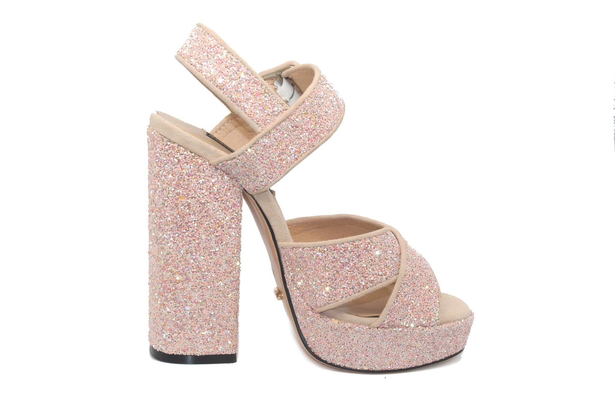 07efd4df8632 Pink Platform High Heeled Sandals