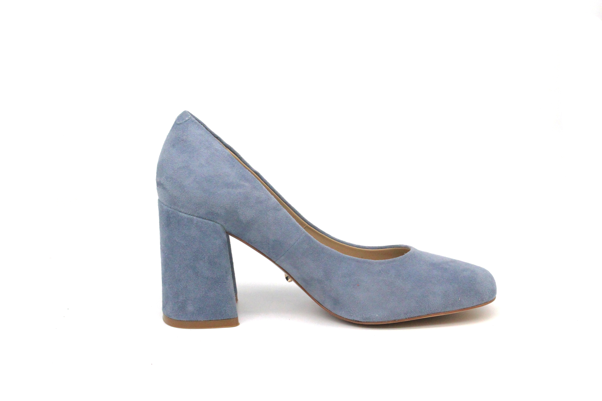 large discount best supplier new york 4 inch Heels - Blue Suede Block Heels