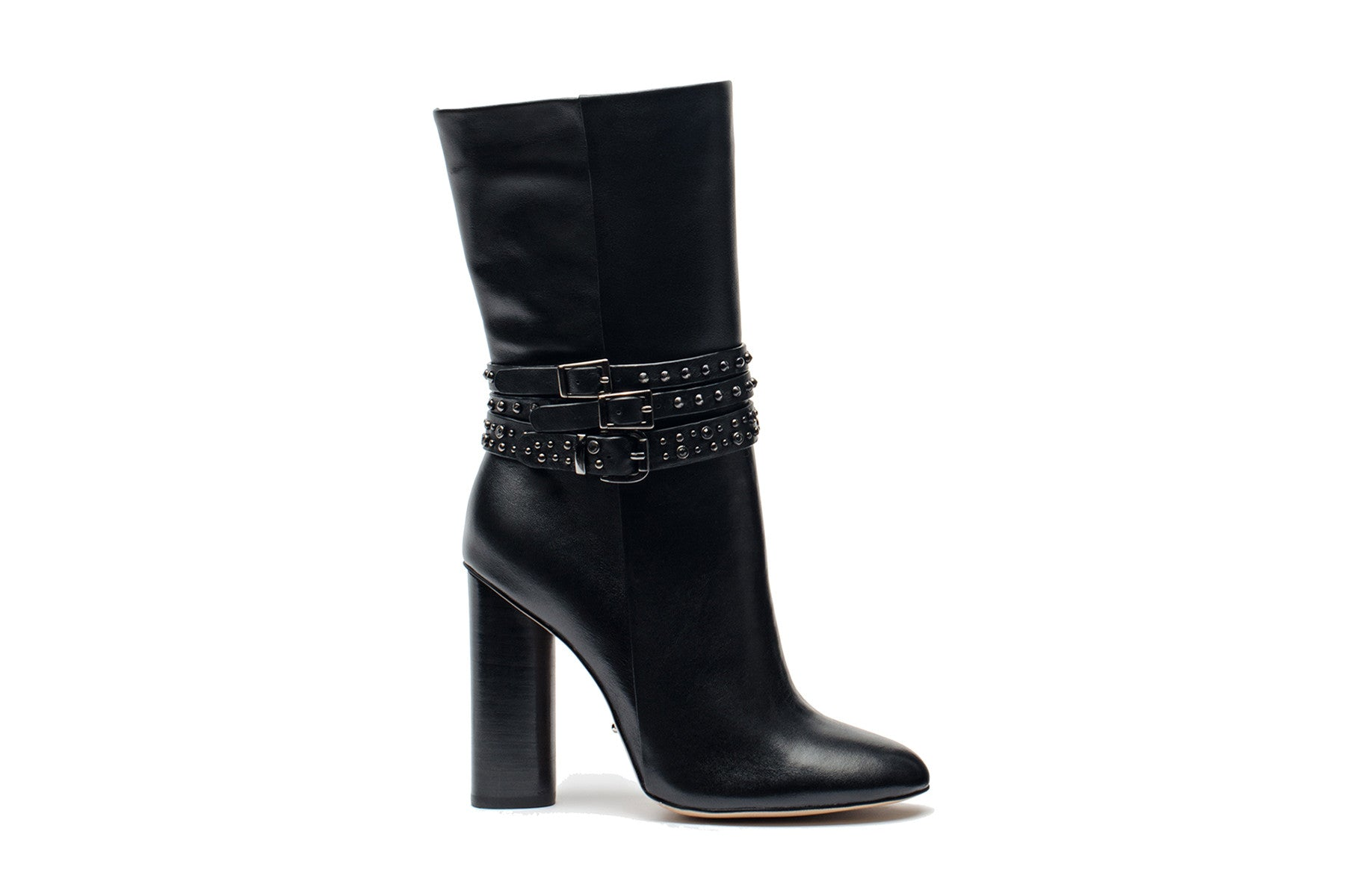 428a48ecd32 Black Leather Short Boots - Angelina Voloshina - AV Heels - 1 ...