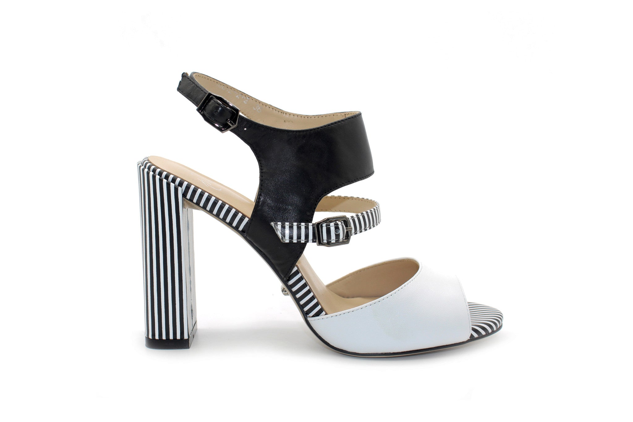 Black And White Pumps 3 Inch Heel OBPF0k