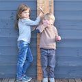 personalised 'kids rule' height chart