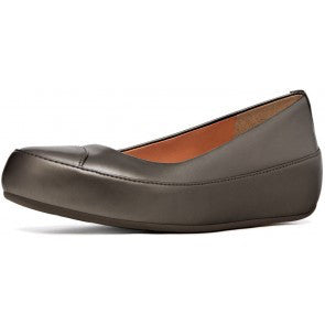 fitflop due leather pewter