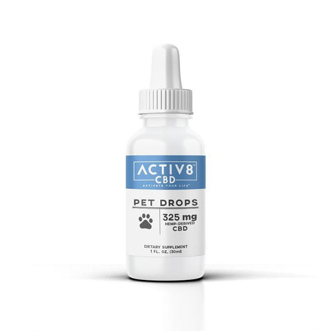 ACTIV8 Pet Drops (325 mg of CBD)