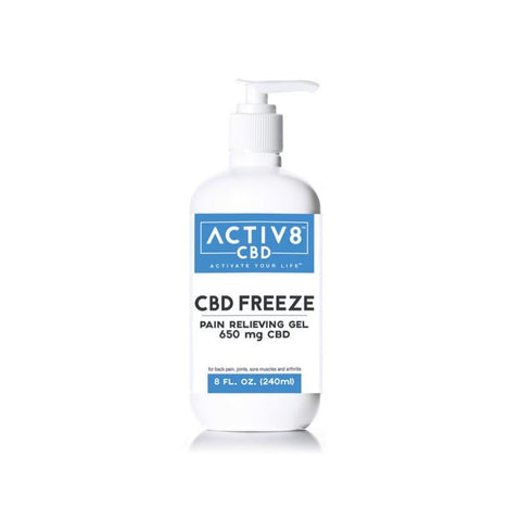 ACTIV8 CBD FREEZE (Pain Relieving Gel | Extra Strength Formula) – For Back Pain, Sore Muscles, Joints & Arthritis