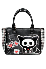 Kit Heart Stitch & Houndstooth Tote Bag