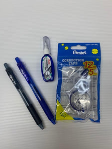 Pentel 0.5 Energel Pen , Correction Tape & Fluid Sets