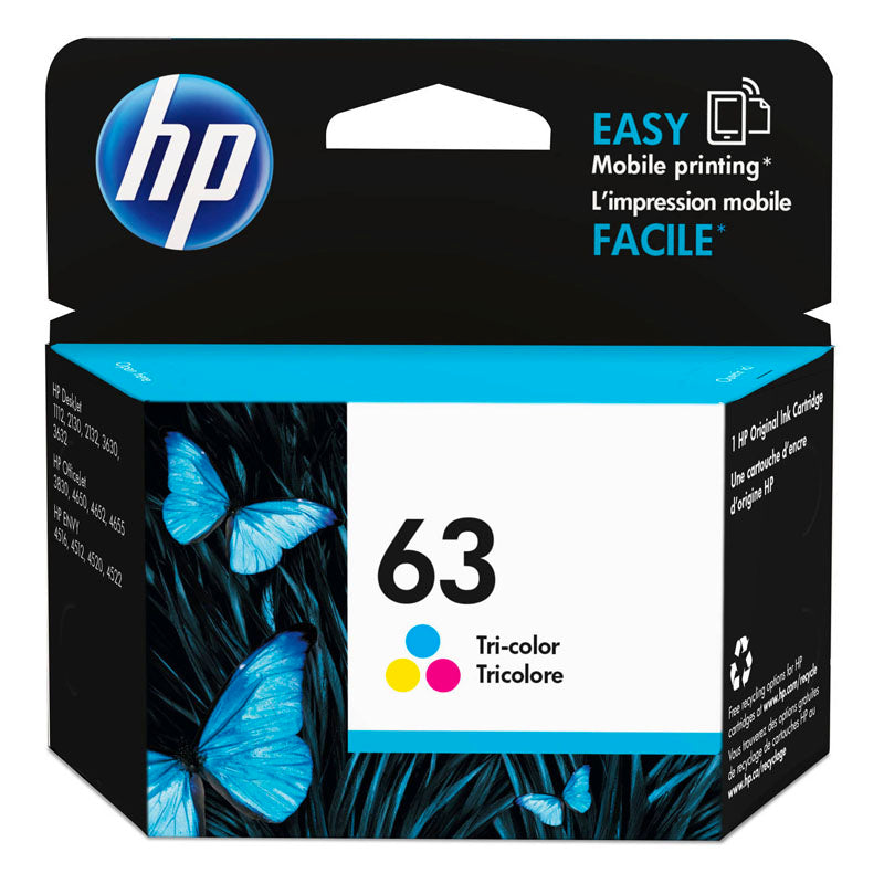 HP 63 Ink Cartridge Tri-Color F6U61AA