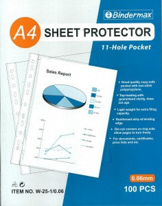 A4 11 Holes Sheet Protector 0.06mm