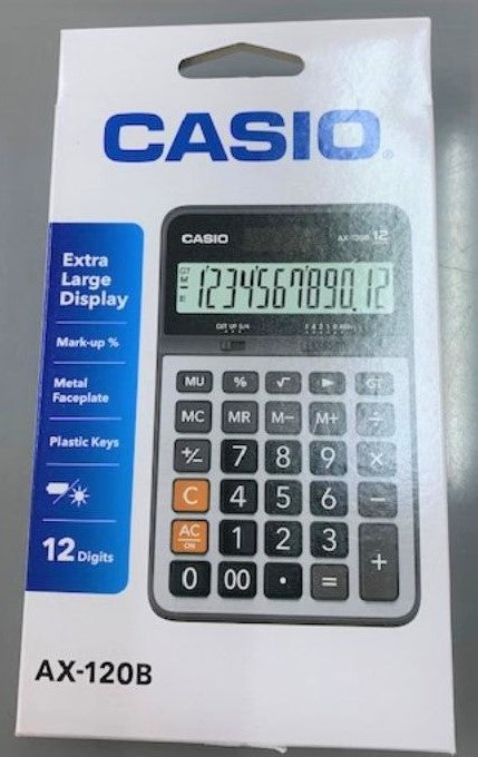 Casio AX - 120B 12 Digit Caculator