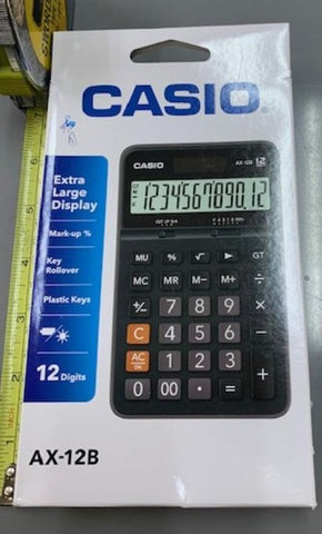Casio AX- 12B 12 Digit Caculator