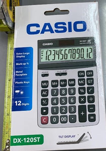 Casio DX - 120ST  12 Digit Caculator