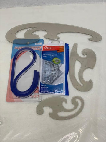 French curve , Flexible Ruler N Set Square Sets