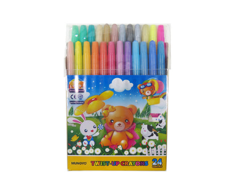 Mungyo 24 colors Twist Crayons-MTC24 (Hot deals)
