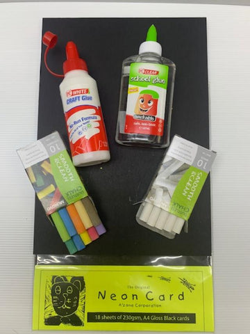 Glues , Dustless Chalks & Black Cards