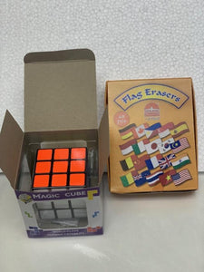 Rubik Cube & Country Eraser