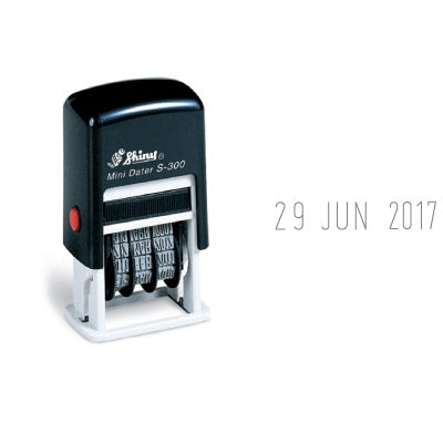 Shiny Self-Inking Mini Date Stamp S-300