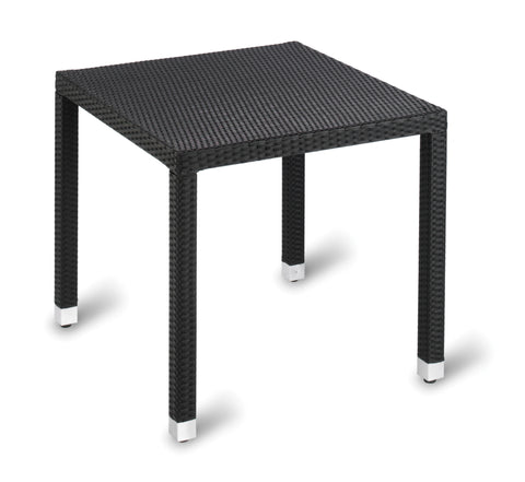 Geneva Weave Top Table – Square Ebony Weave 800 square