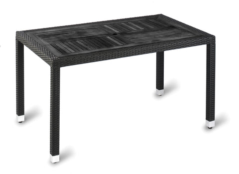 Geneva No Wood Top Table –  Black/Wood 1400x800