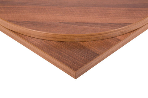 25mm MFC Restaurant Table Tops Walnut