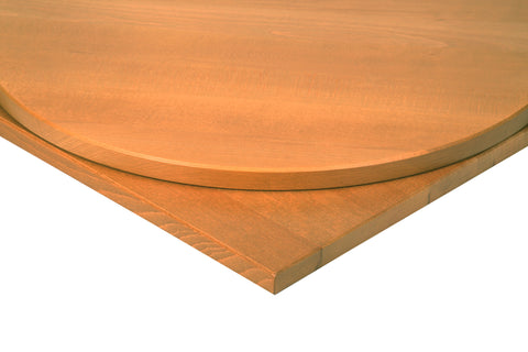 26mm Solid Beech Restaurant Table Top in Oak Stain